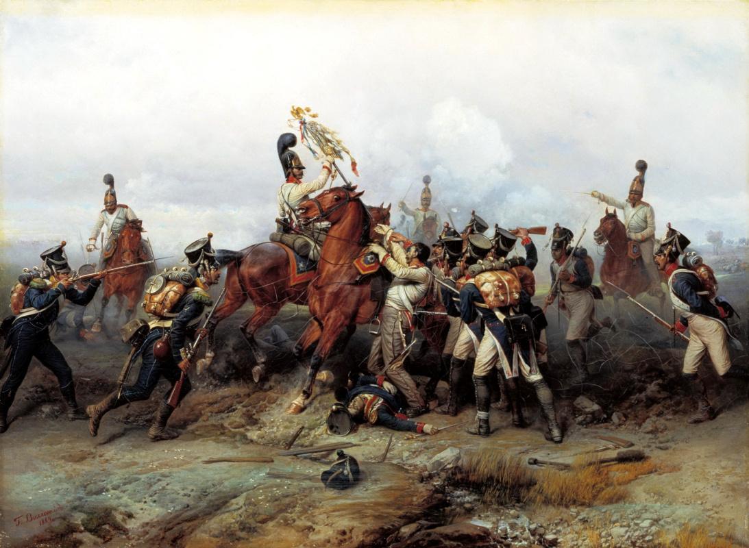Богдан Павлович Виллевальде. Подвиг конного полка в сражении при Аустерлице