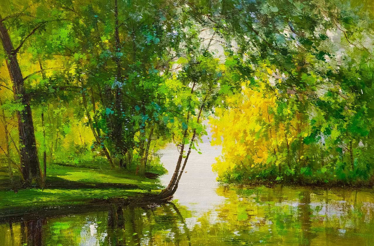 Andrey Sharabarin. In the emerald forest by the ringing stream ...