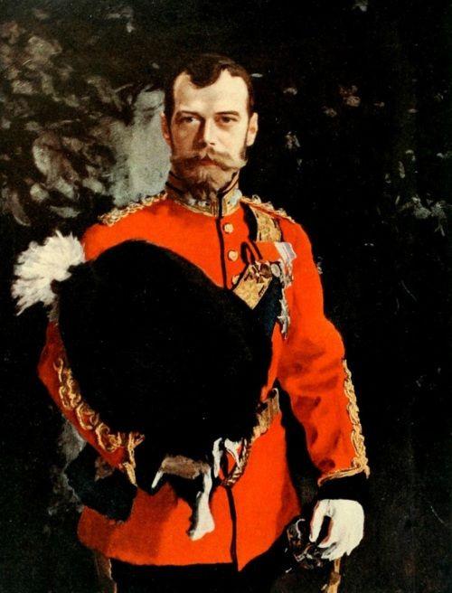 Valentin Aleksandrovich Serov. Portrait of Emperor Nicholas II in the uniform of the Royal Scottish 2nd Dragoon Regiment