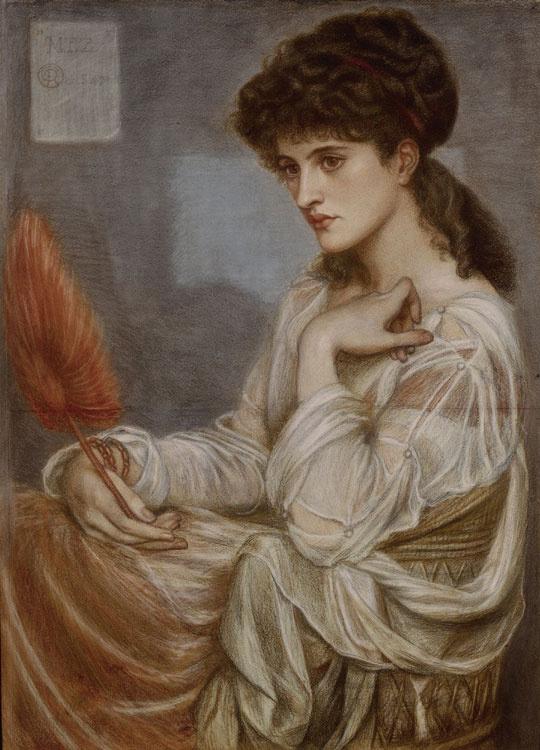 Dante Gabriel Rossetti. Portrait Of Maria Theresa Zambaco