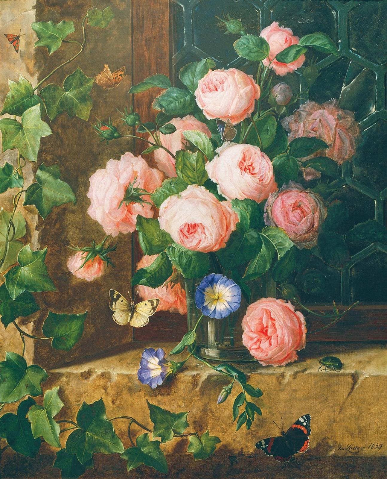 Йозеф Лауэр. Натюрморт с цветами