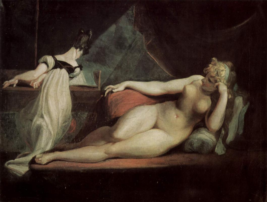 Johann Heinrich Fuessli. Nude and pianist