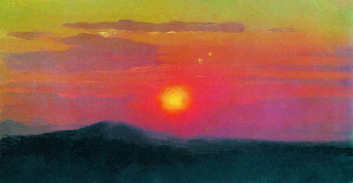 Arkhip Ivanovich Kuindzhi. The red sunset. A sketch of the same picture
