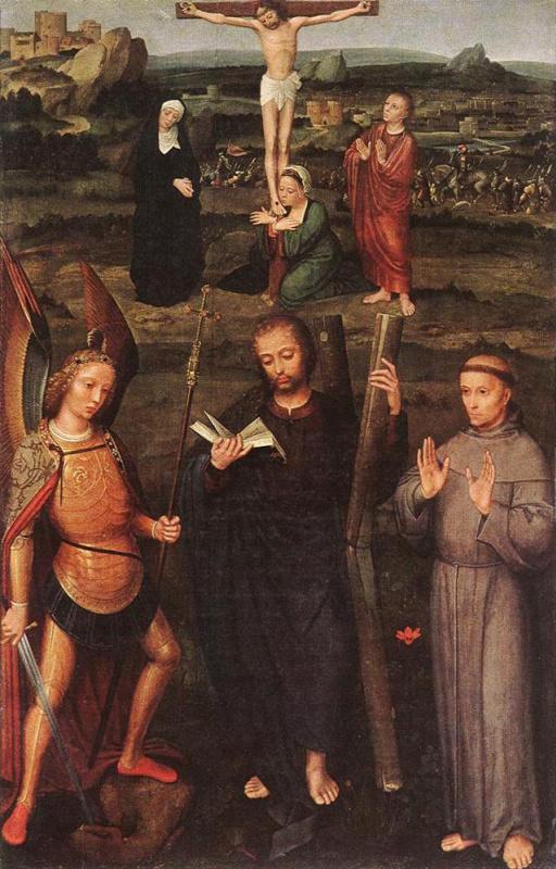 Адриан Изенбрант. Архангел Св. Михаил, Св. Андрей и Св. Франциск Ассизский