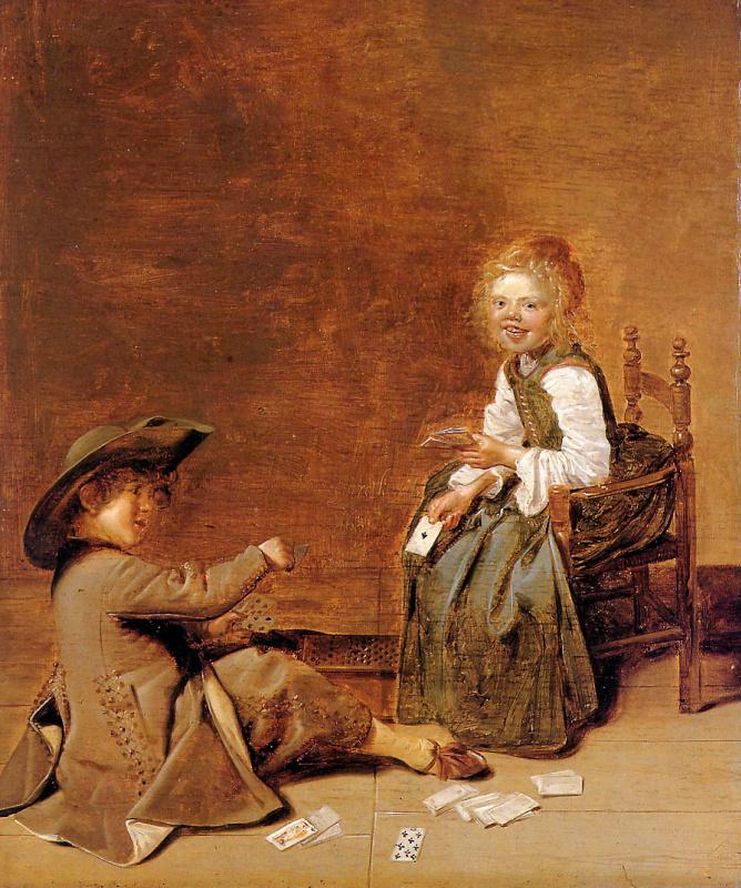 Дирк Халс. Дити играют картами