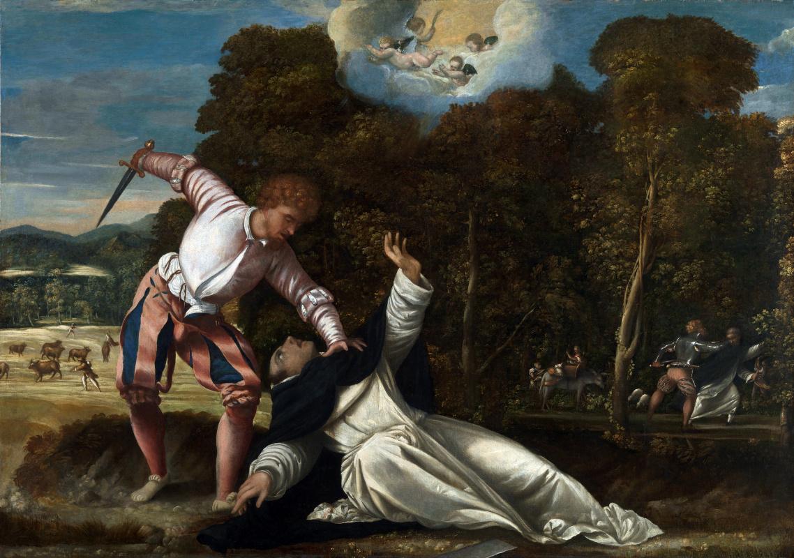 Да Асола Бернардино. Смерть святого Петра Мученика