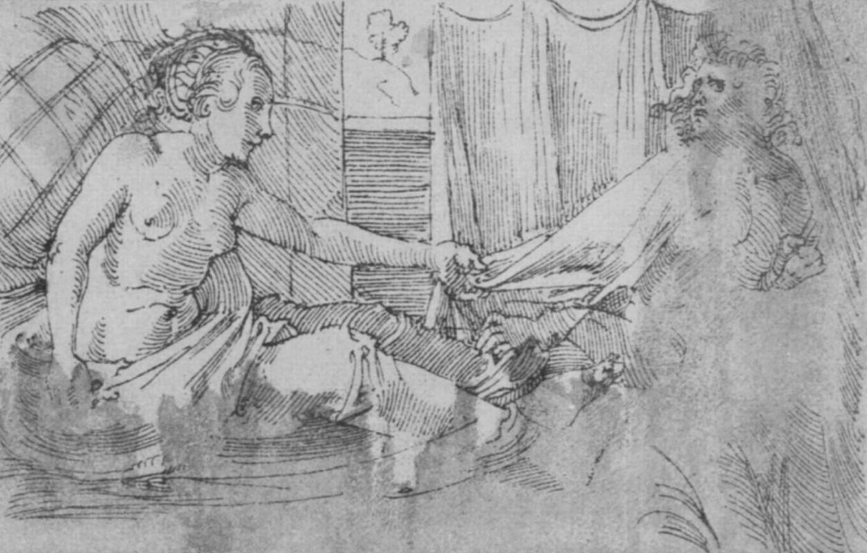 Ханс Бальдунг. Иосиф и жена Потифара. Молитвенник императора Максимилиана I