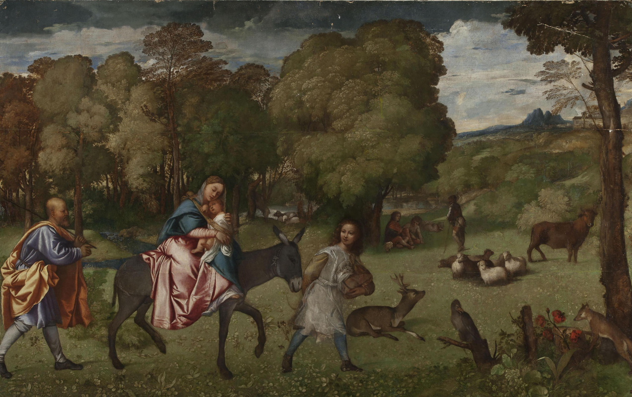 Titian Vecelli. The flight into Egypt