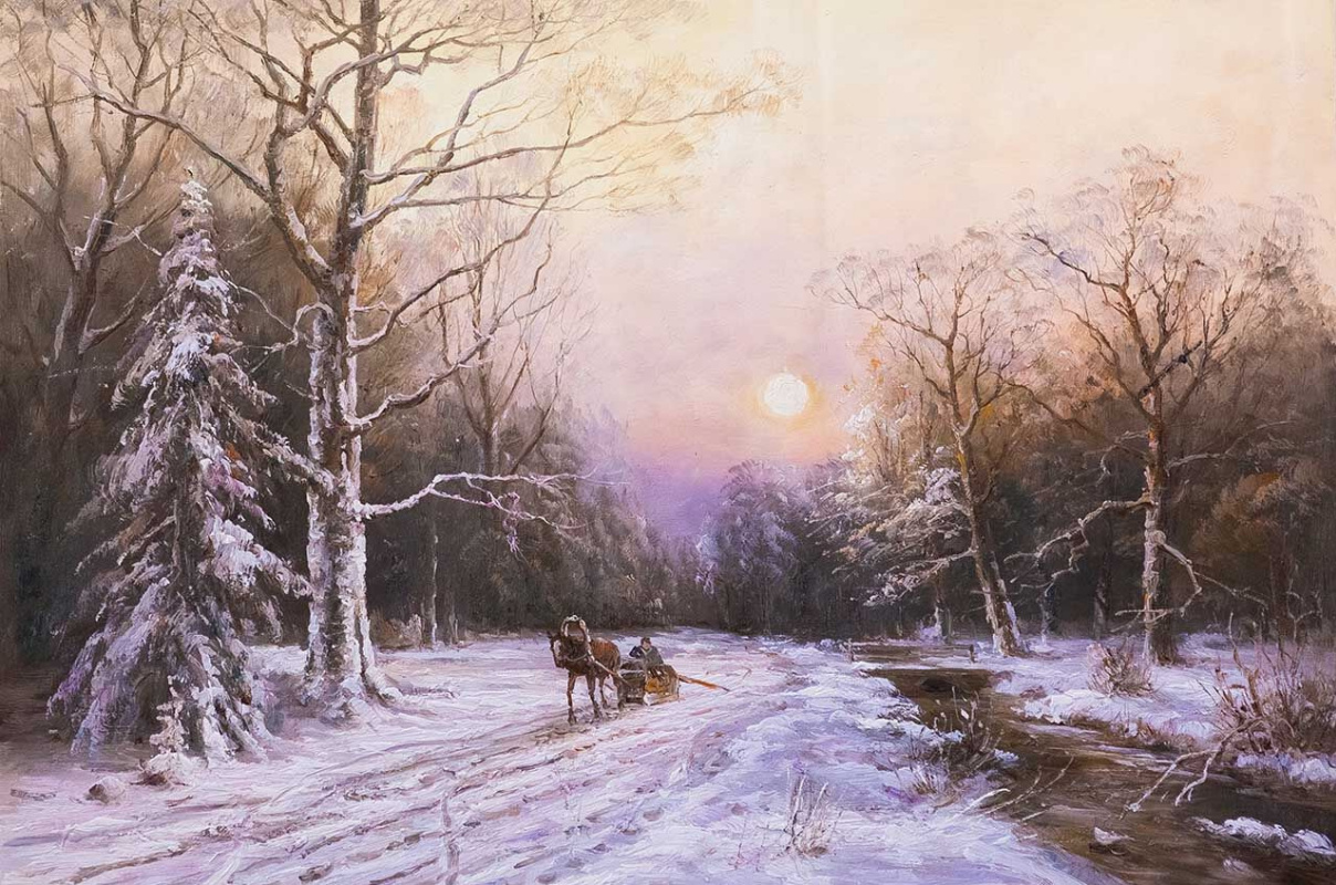 Andrzej Vlodarczyk. On a winter road along the ice-free stream N2