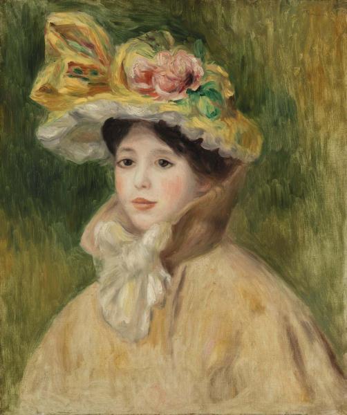 Pierre-Auguste Renoir. The woman in the bonnet