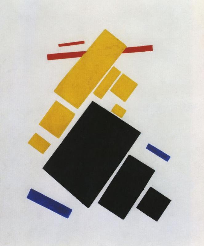 Kazimir Malevich. Suprematist composition: airplane flying