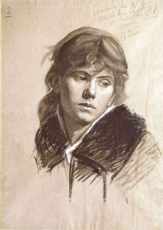 Мария Константиновна Башкирцева. Голова женщины