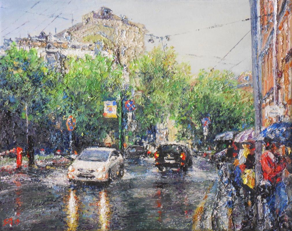Алексей Леонидович Якимов. Spring rain in B.Ovchinnikovsky lane