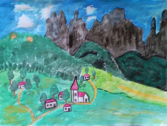 Sokolova Irina.. Mountain town