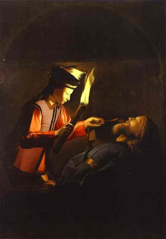 Georges de La Tour. Finding the body of St. Alexis