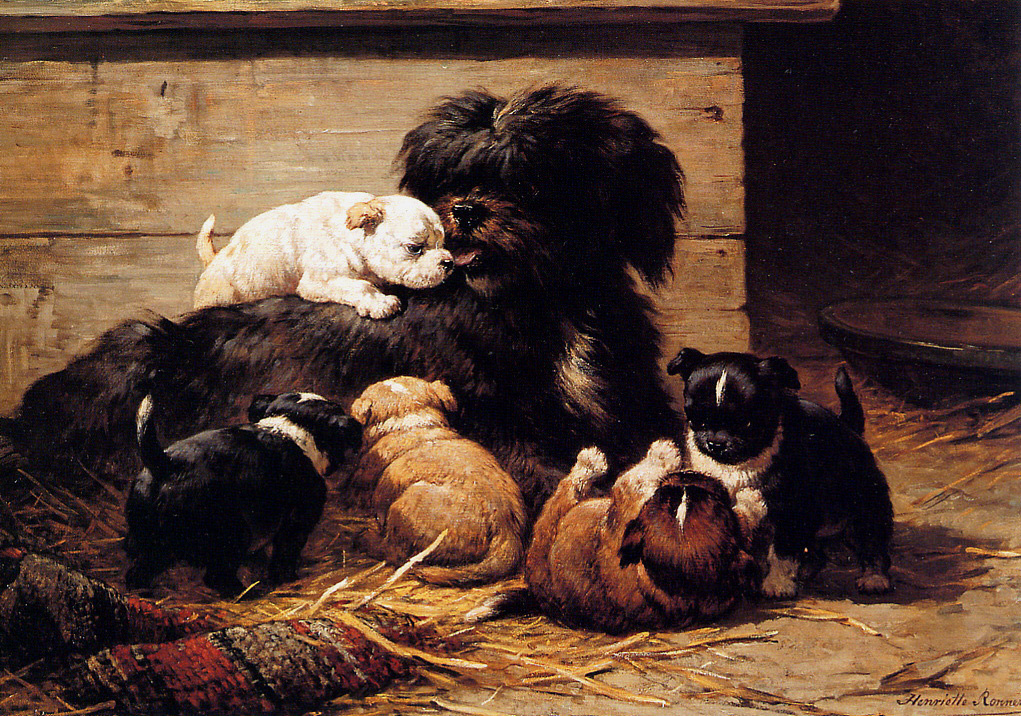 Генриетта Роннер-Книп. Собака со щенками