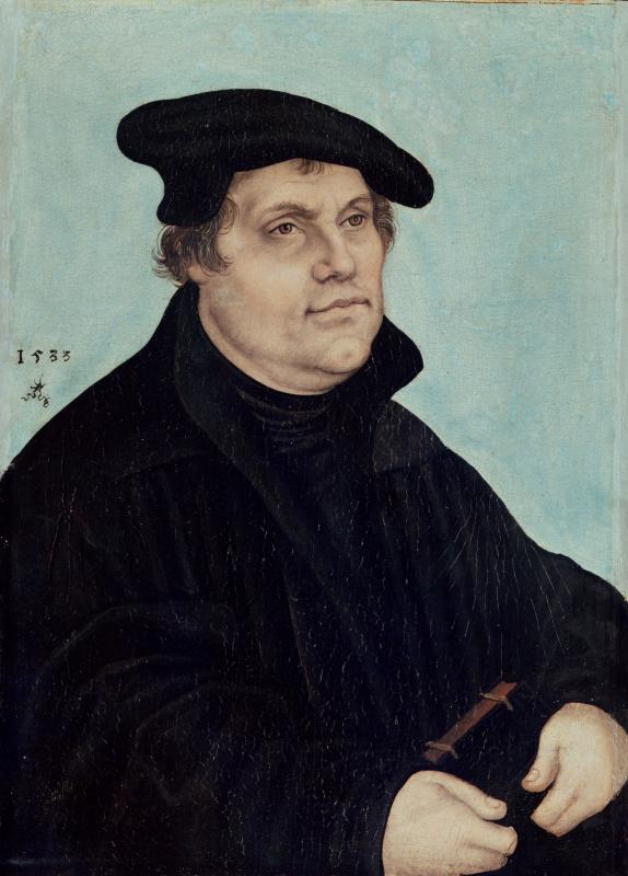Lucas Cranach the Elder. Portrait Of Martin Luther