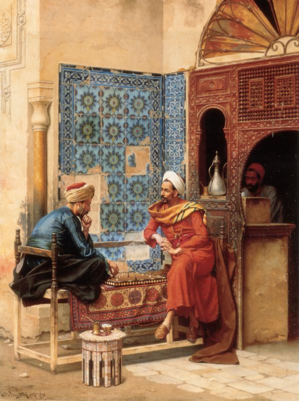 Осман Хамди Бей. Шахматная партия