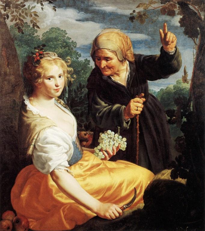 Паулюс Морелсе. Девушка с гроздью винограда