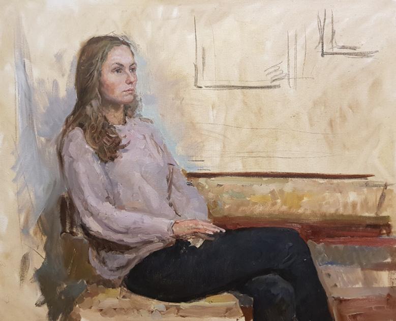 Aleksandr Chagadaev. Portrait in the interior