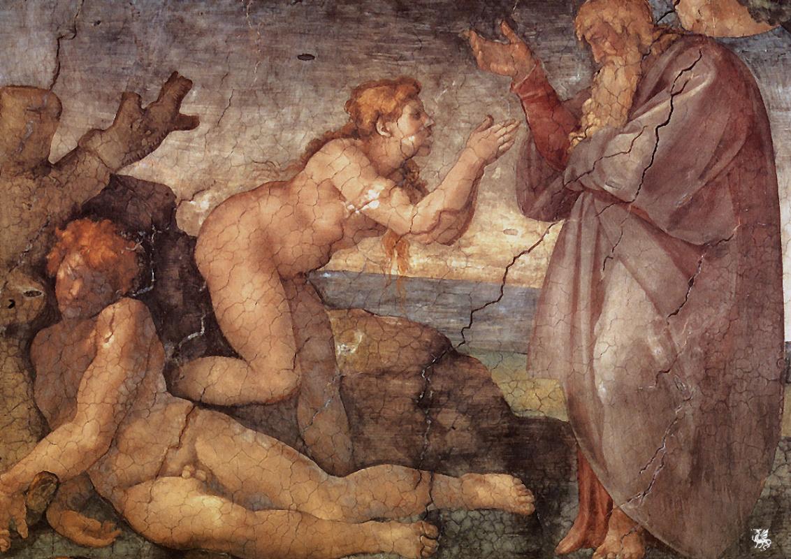 Микеланджело Буонарроти. Сотворение Евы