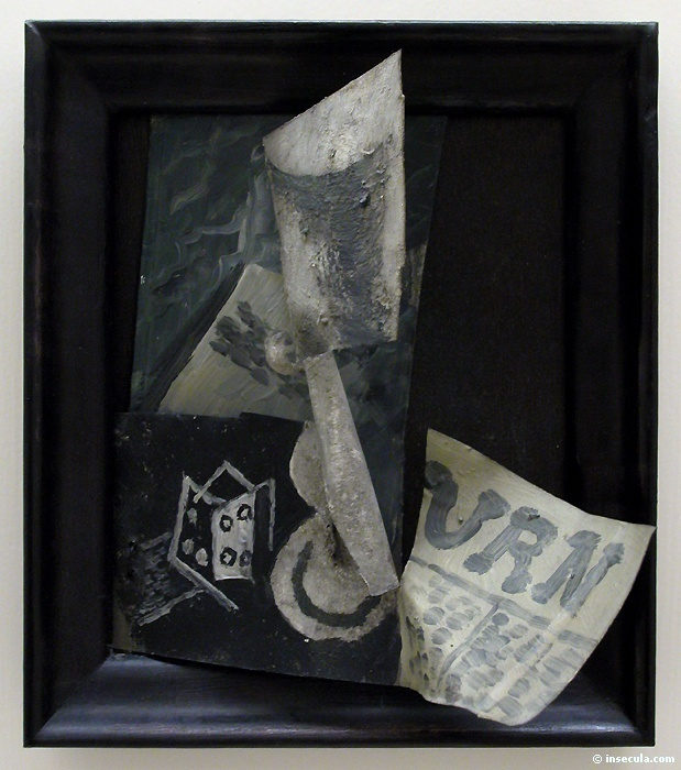Пабло Пикассо. Стекло, игральные кости и газета
