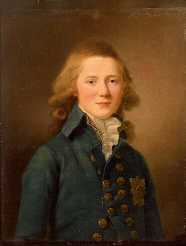 Жан Луи Вуаль. Портрет великого князя Александра Павловича
