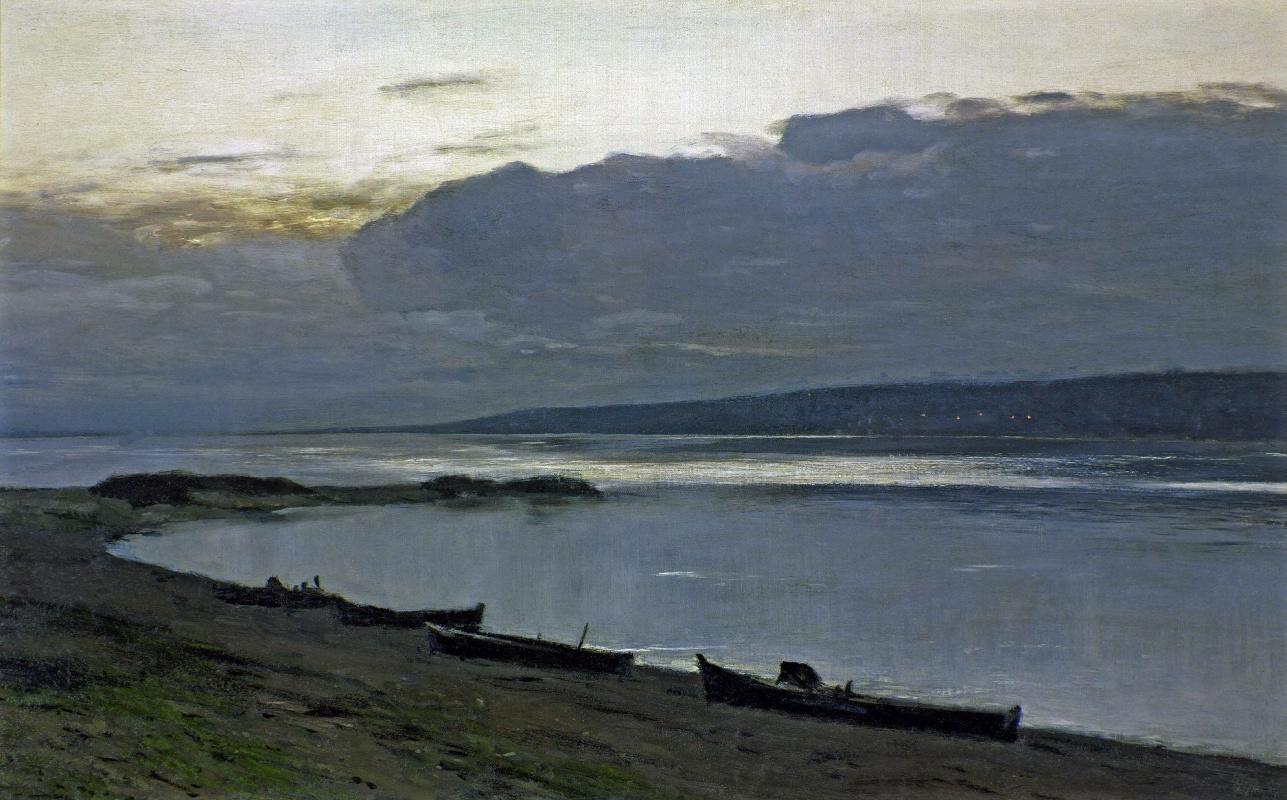 Исаак Ильич Левитан. Вечер на Волге