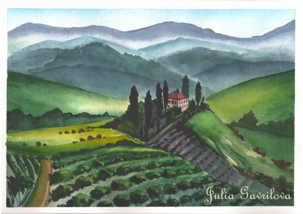 Юлия Гаврилова. Холмы Тосканы