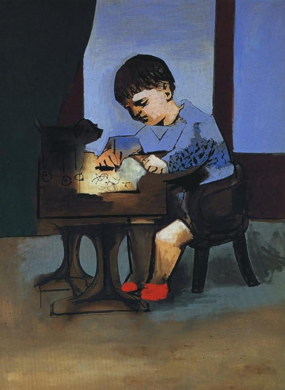Пабло Пикассо. Пауло рисует