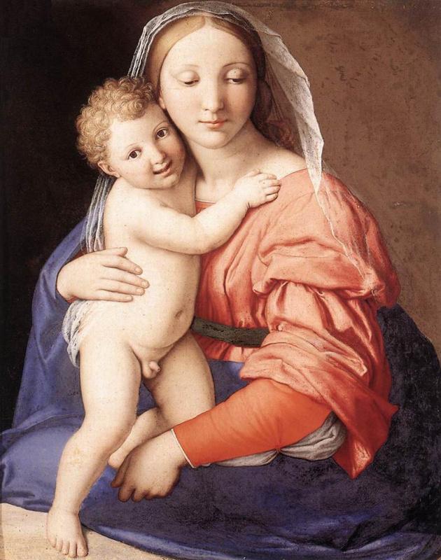 Джованни Батиста Сальви. Богородица со Спасителем