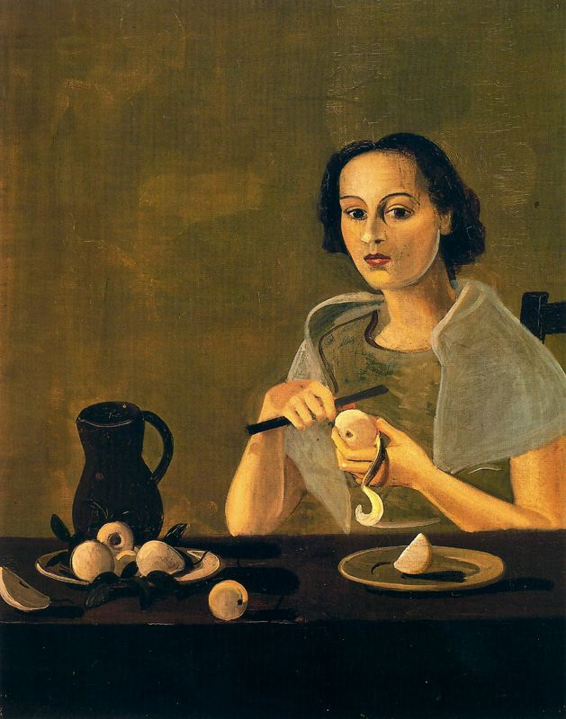 Andre Derain. A young girl cuts an Apple