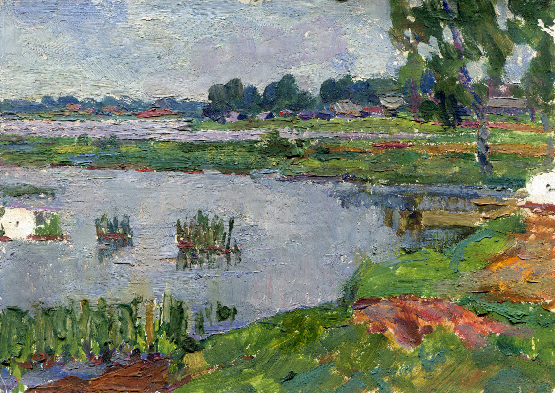 "Vasily Fadeevich Demin. Etude ""Lake View"""