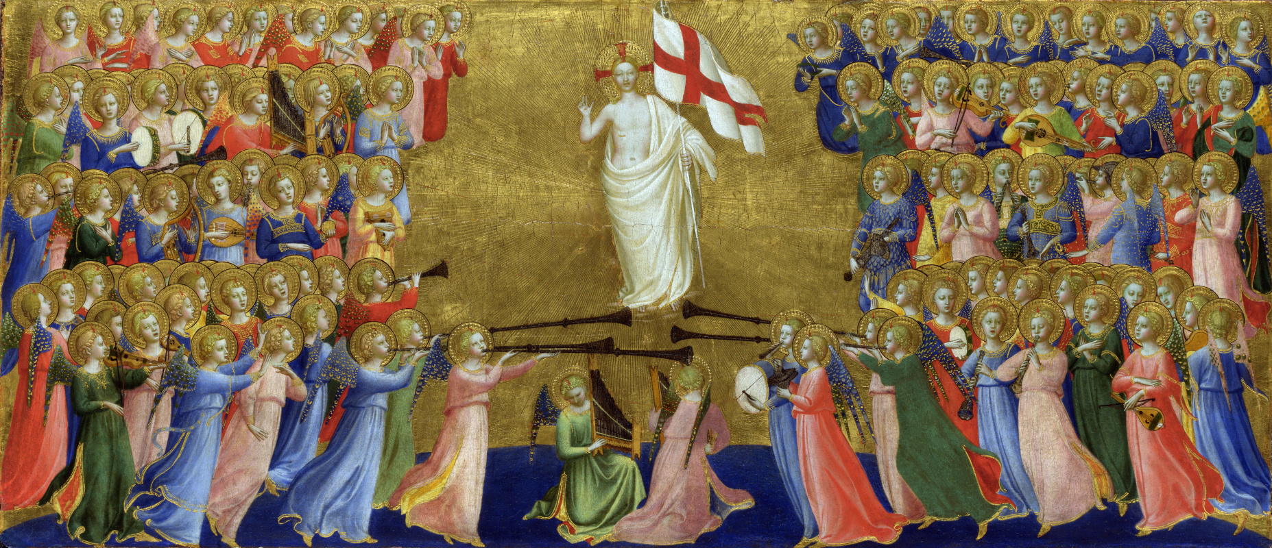 Фра Беато Анджелико. Христос прославляется в суде небес