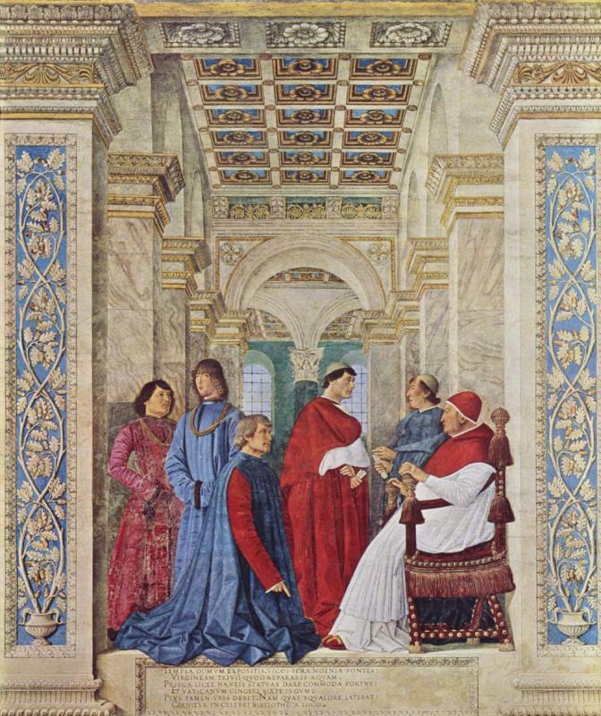 Melozzo da Forlì. Pope Sixtus IV