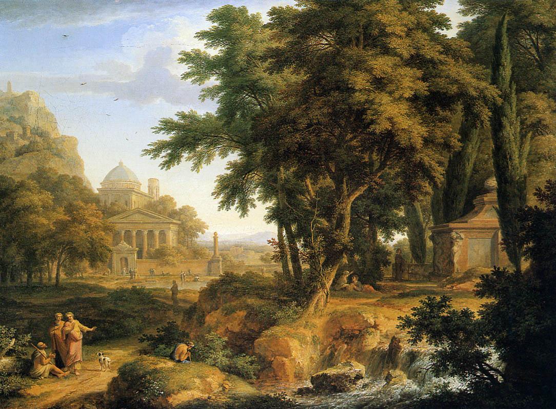 Ян ван Хейсум. Аркадский пейзаж
