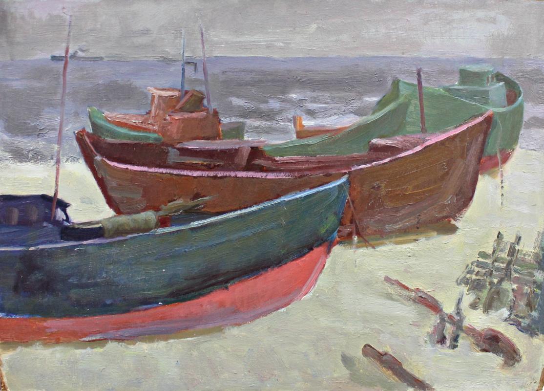 Wolf Benetovich Simberg. Fishing boats