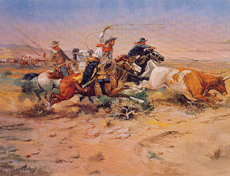 Charles Marion Russell. The herd
