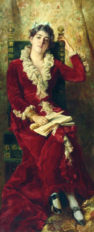 Konstantin Makovsky. Portrait of the artist's wife, Yulia Pavlovna Makovskaya