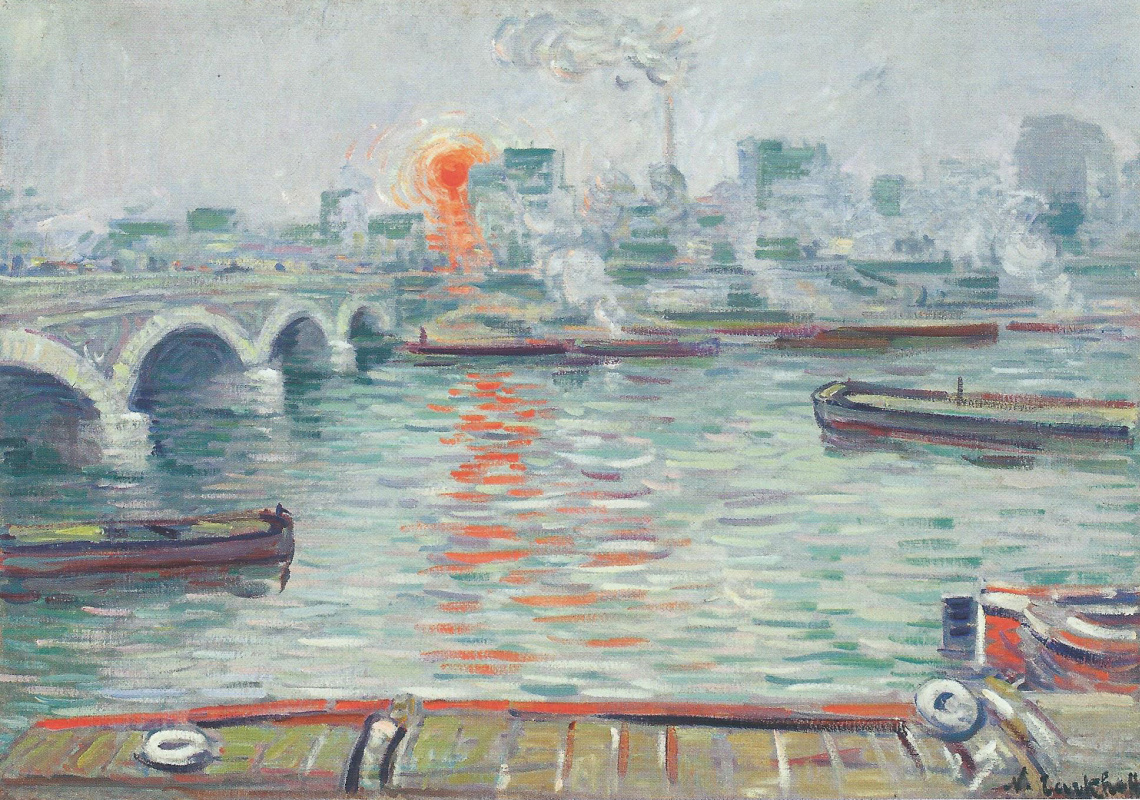 Nikolay Aleksandrovich Tarkhov. Morning over water