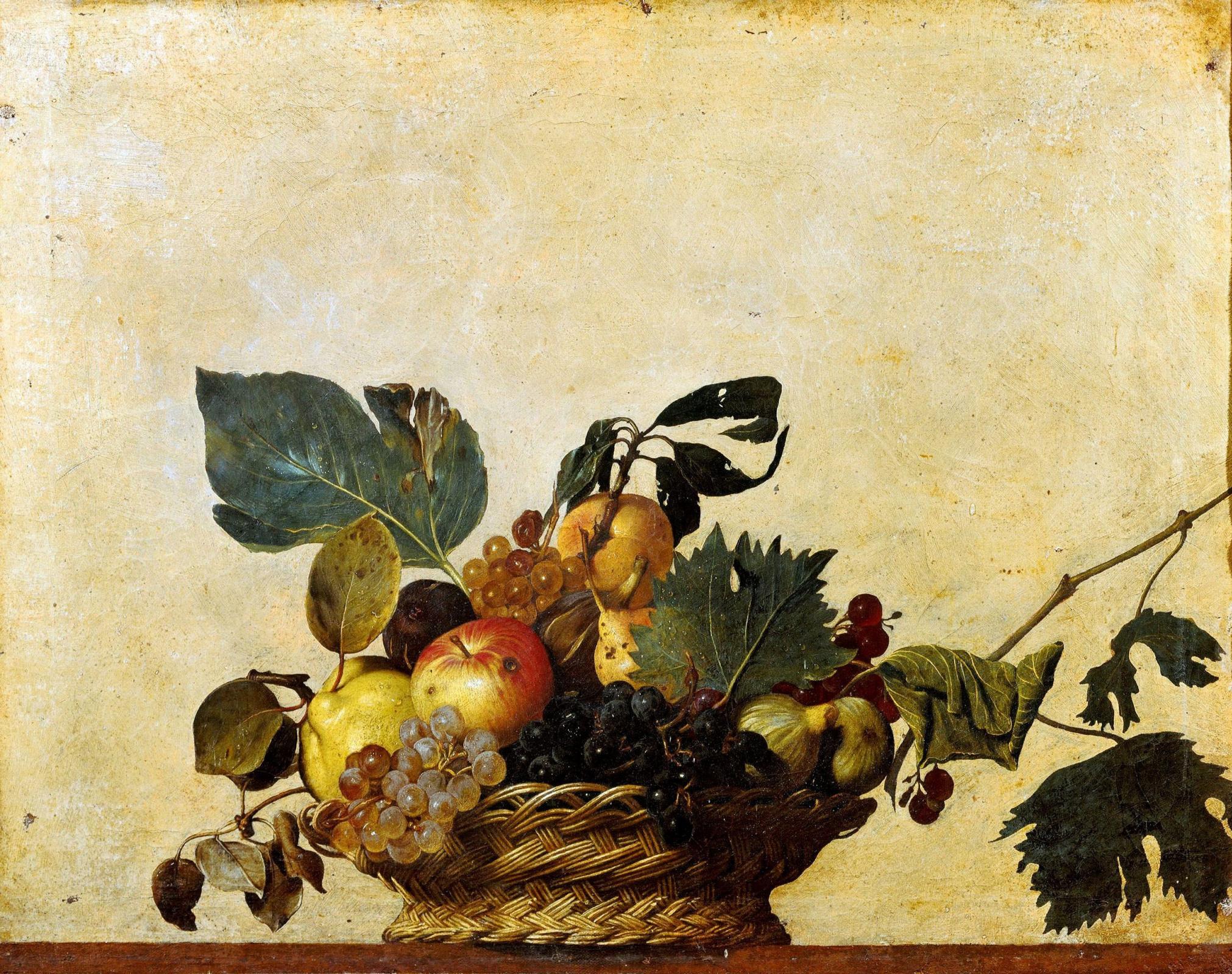Микеланджело Меризи де Караваджо. Корзина с фруктами