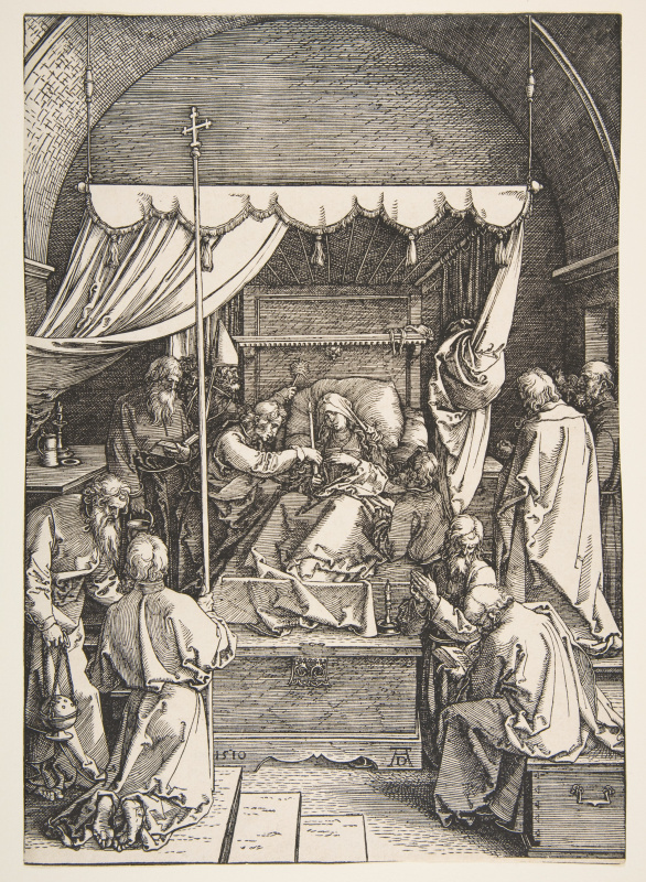 Albrecht Durer. The Death Of Maria