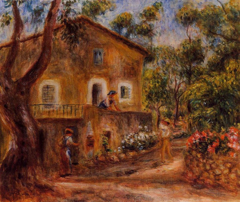 Пьер Огюст Ренуар. Дом в Коллетт в Кане