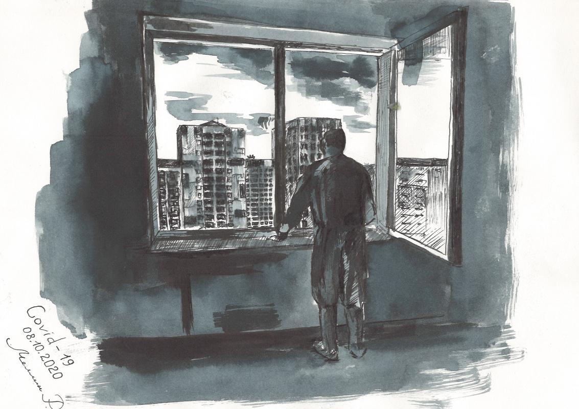 Ruslan Viktorovich Mellin. Drawings from covidarium