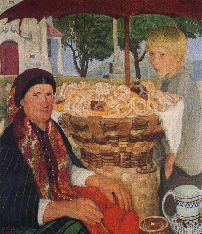 Антонио Медаль. Пожилая женщина с мальчиком