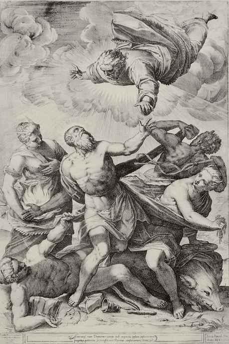 Агостино Карраччи. Искушение святого Антония