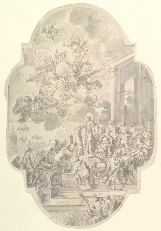 Франческо Де Мура. Видение святого Бенедикта