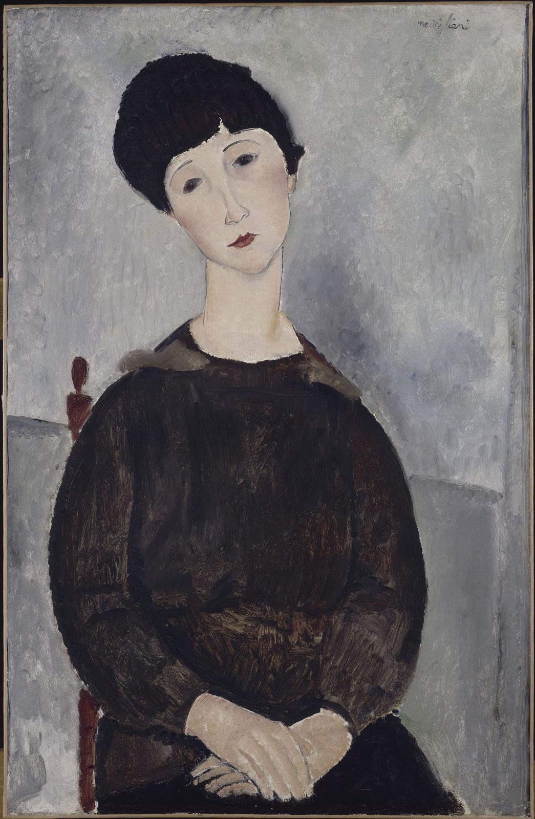 Амедео Модильяни. Женщина в черном со скрещёнными руками