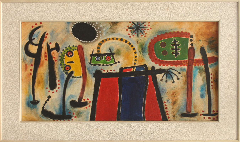 Unknown artist. Painting (Joan Miro)