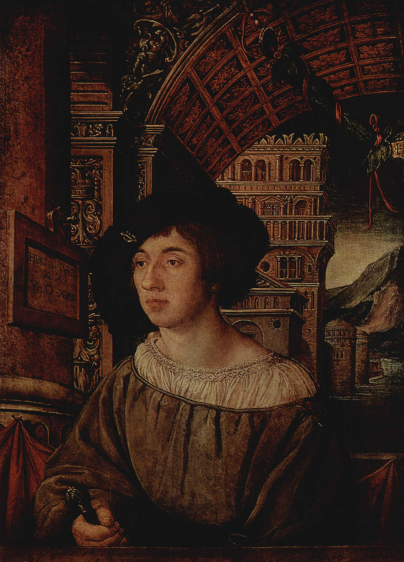 Ambrosius Holbein. Portrait of a young man